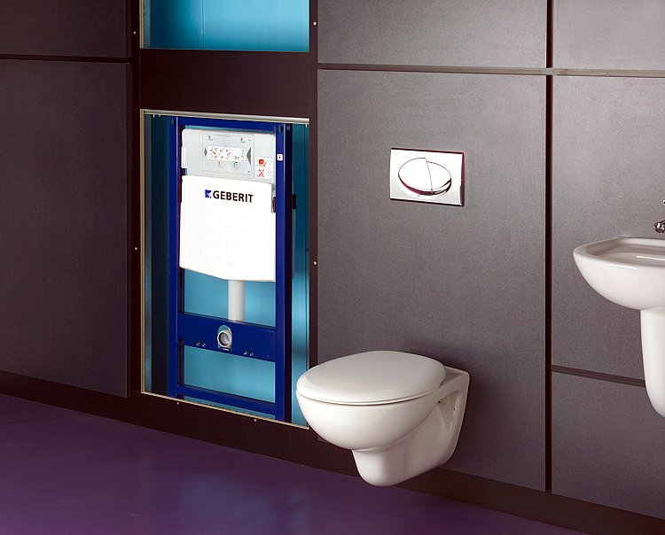 Toilets bathrooms salisbury for Geberit toilet system